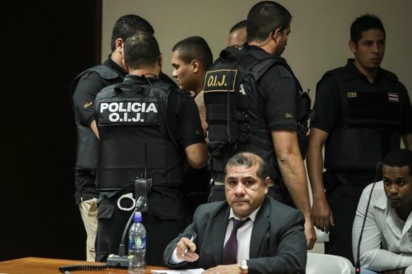 Dinier Estrada, alias Ojos Bellos, luego de escuchar la sentencia de 25 años por dos tentativas de homicidio.