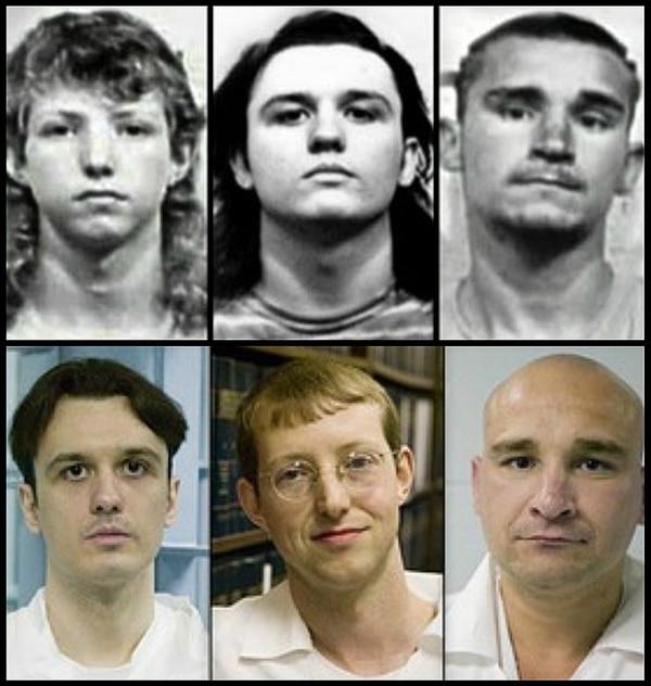 Los tres acusados eran unos niños cuando los detuvieron injustamente. Archivo