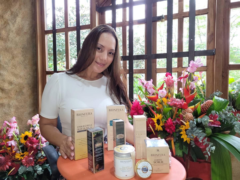 La emprendedora costarricense María Laura Quesada logró colocar sus productos de spa  Biosfera con éxito en la cadena hotelera Planet Hollywood Cancún