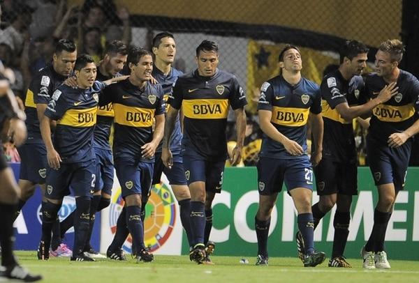 Boca Juniors ganó el jueves ante Palestino de Chile.