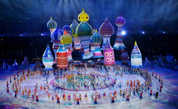 Presentación en los Juegos Olímpicos de Invierno 2014.
