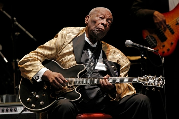 B.B. King suma seis décadas en el escena musical y es considerado el 'Rey del blues'.