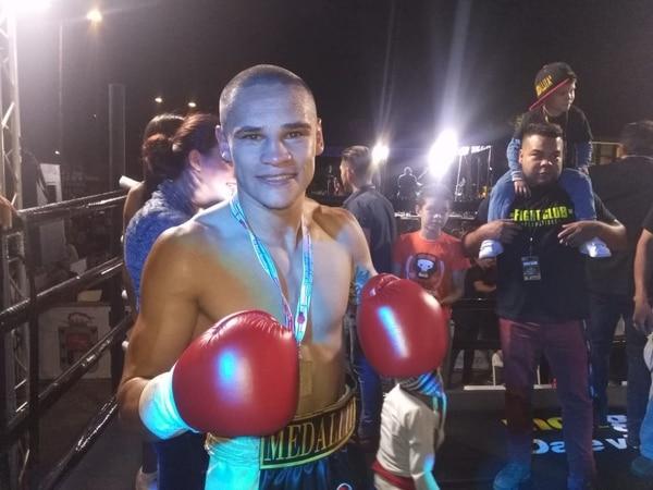 16/02/2019. David Medallita Jiménez ganó su pelea. Foto Keyna Calderón