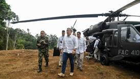 Atacado helicóptero en el que viajaba el presidente de Colombia, Iván Duque