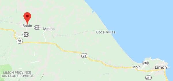 El asesinato ocurrió la madrugada de este martes en lo que aparenta ser una emboscada en Batán. Google Maps