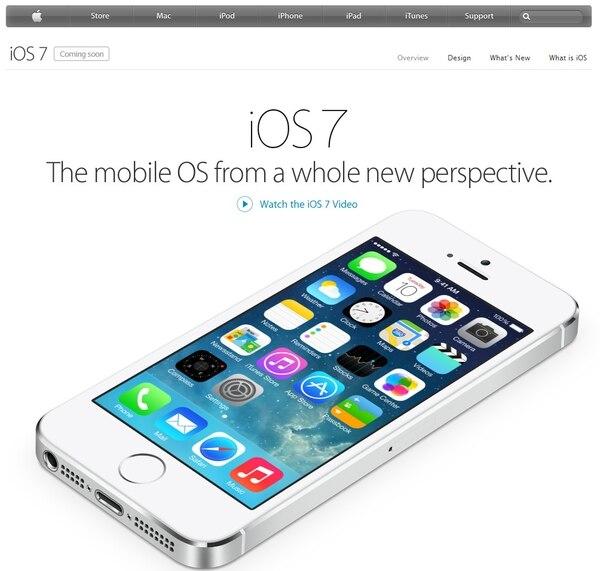 iOS 7, iPhone, Apple