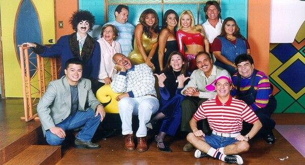 Elenco de 'Bienvenidos', uno de los programas de comedia que más influyeron en la televisión nacional. Archivo