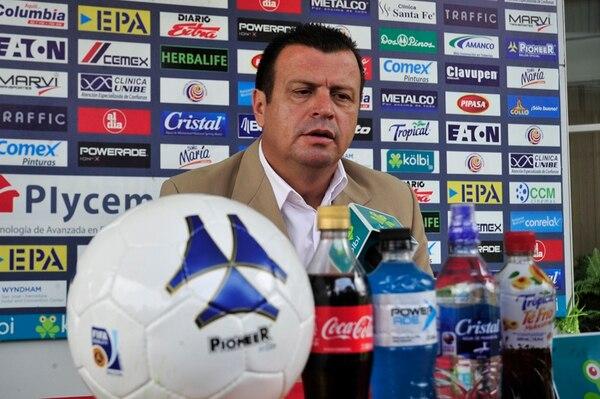 Ricardo Chacón, director de selecciones, tuvo choques.   ARCHIVO