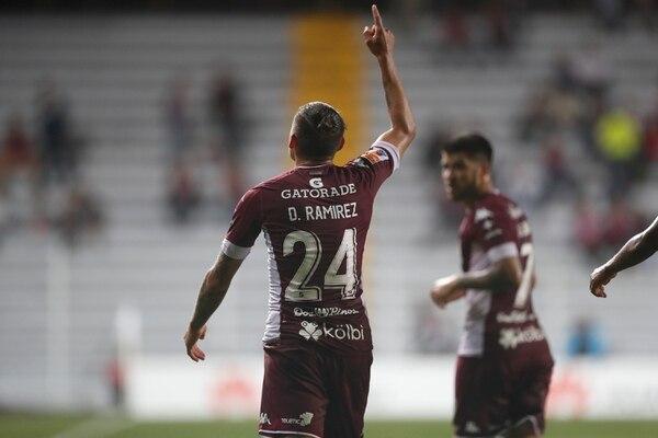 David Ramírez suma tres goles con el Saprissa.