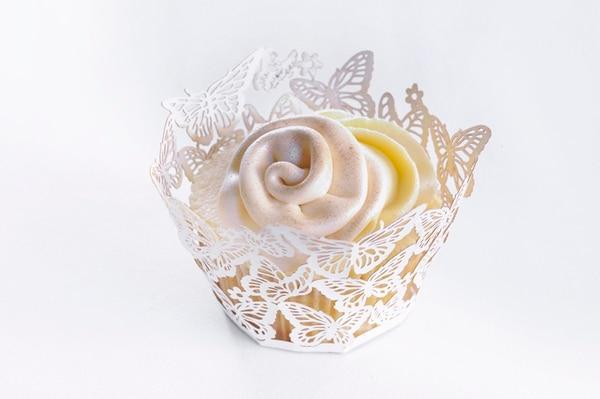 Este cupcake es especial para un recuerdo y postre de una boda. | EYLEEN VARGAS.