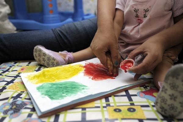 Centros Red de Cuidos. Recorrido por un par de kinders que forman parte una nueva modalidad en la red de cuido. en la fotografía: semillitas de vida. Barva de Heredia