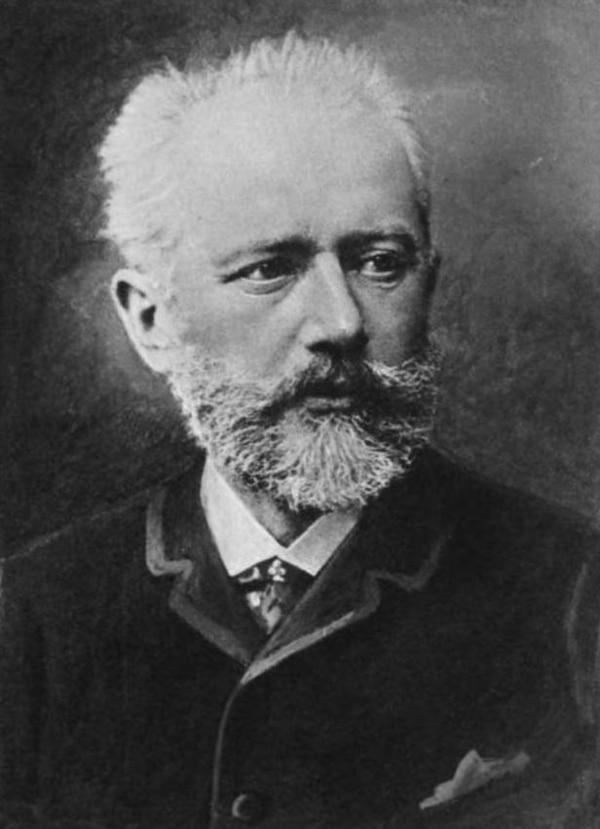 Retrato del compositor ruso Pior Illich Tchaikovsky.