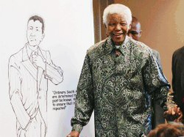 South African former President Nelson Mandela launches Izipho (Madiba or Mandela's gifts), an exhibition of gifts and awards from around the world received by Mandela, especially in the past -1999 period as part of celebrations for his 87th birthday 14 July 2005, at the Nelson Mandela Foundation in Johannesburg. Part of Mandela's birthday celebrations are the publication of a book archiving his life and work, entitled