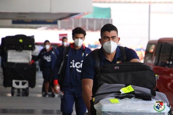 La Selección de Panamá llegó a Costa Rica este viernes por la mañana. Fotografía: Fepafut