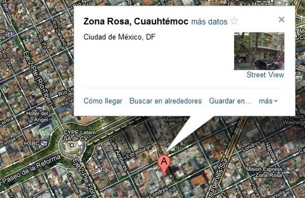 El rapto se habría presentado en la Zona Rosa. | GOOGLE MAPS