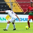 Bryan Rojas a la derecha, sumó dos goles con Carmelita en la victoria de su club contra Grecia 3-0. Foto AD Carmelita