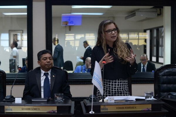 15/4/2018 Plenario, Asamblea Legislativa En la imagen: Xiomara Rodríguez, diputada por Restauración Nacional Fotografía: Jose Díaz/Agencia Ojo por Ojo