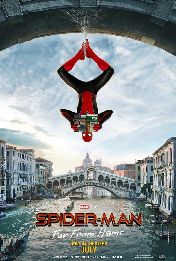 Póster oficial de 'Spider-Man: lejos de casa'(2019). Cortesía de Discine
