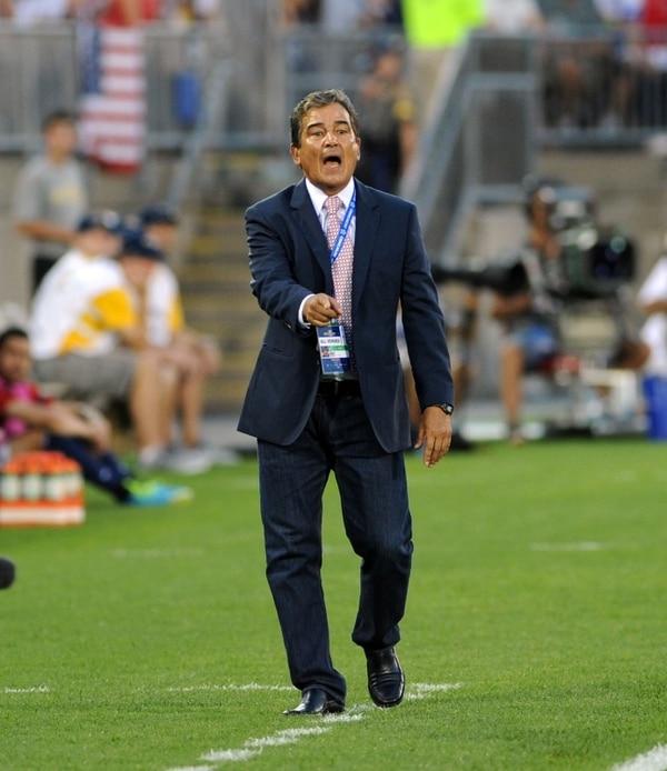 Jorge Luis Pinto no logró alcanzar mayor éxito en su primera experiencia en Copa Oro.   ARCHIVO