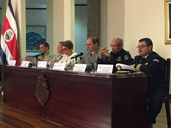 Las autoridades del Ministerio de Seguridad Pública destacaron los beneficios que traerá al país la donación que hizo Estados Unidos en equipos y capacitación para combatir al crimen organizado.