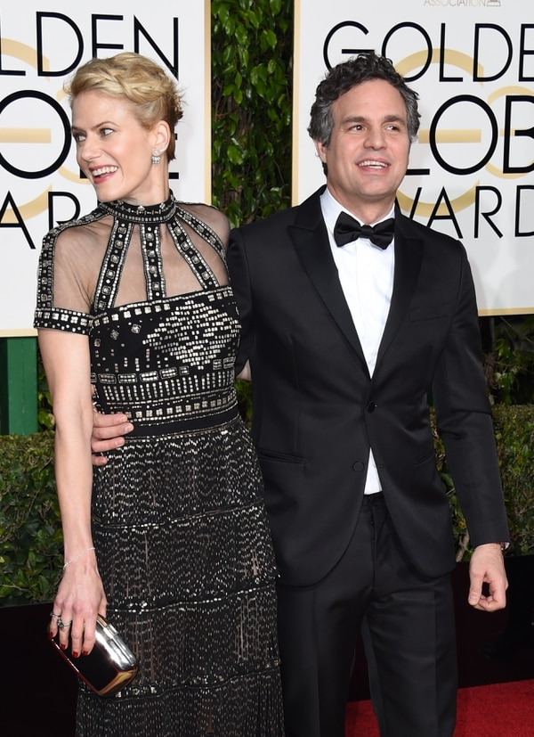 Sunrise Coigney y Mark Ruffalo.