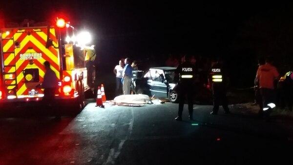 El accidente ocurrió en Cañas, sobre la carretera Interamericana Norte.