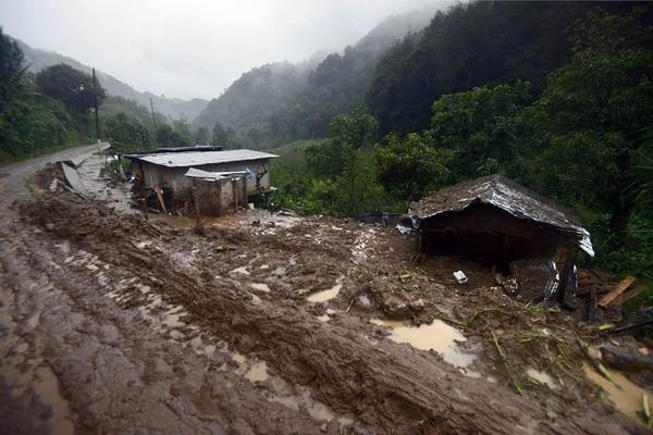 El deslave en Veracruz projudo al menos 10 muertos este domingo.