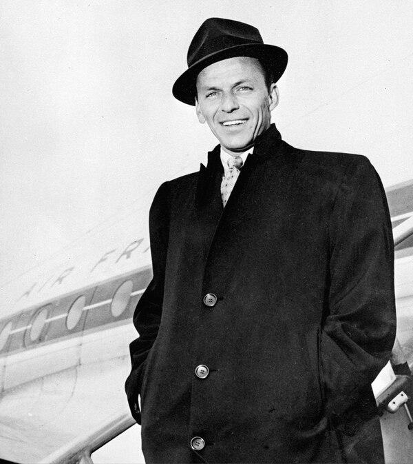 Frank Sinatra en su juventud.