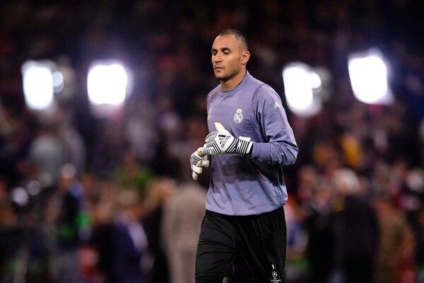 Keylor Navas realizó el calentamiento con sus compañeros del Real Madrid