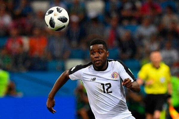 Joel Campbell sacó nota alta al jugar el partido completo contra Suiza en Rusia 2018. Fotografía: AFP Martin Bernetti