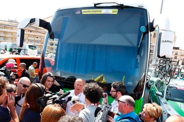 En el equipo Bardiani están muy preocupados tras los resultados adversos de sus dos corredores que fueron expulsados del Giro.