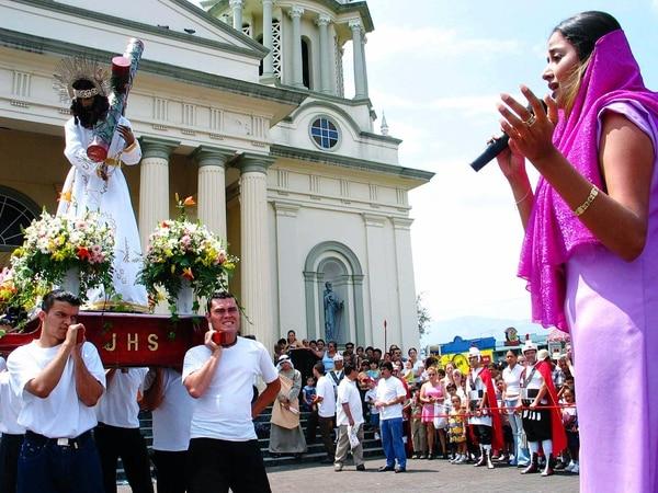 En Desamparados, la procesión se efectuará en los alrededores del templo.