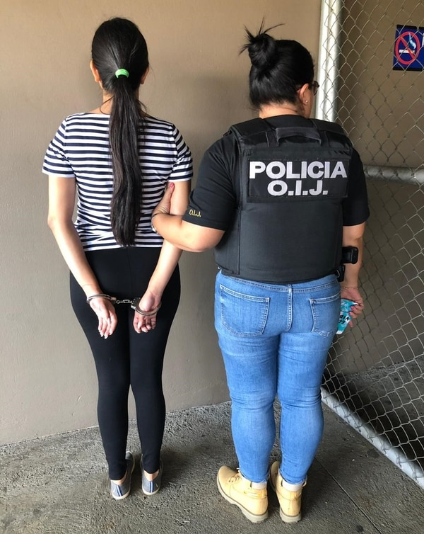 La implicada tiene 21 años y desde el 2017 laboraba en el establecimiento comercial. Foto cortesía de OIJ.