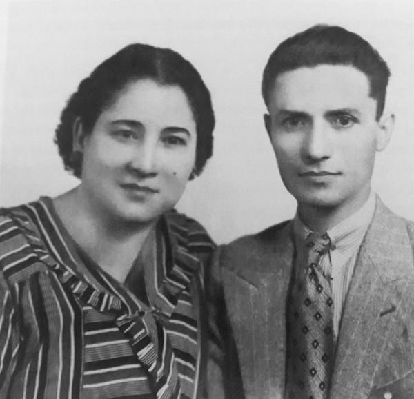 El artista Rigoberto Moya y su esposa Nery Selva. Foto: Cortesía de María Elena Mayorga.
