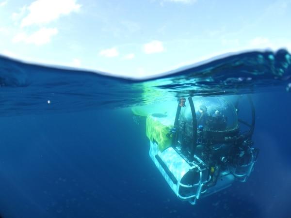 Los investigadores utilizan el mini submarino Deep See, propiedad de la compañía Undersea Hunter Group, para estudiar las profundidades de Isla del Coco.   UNDERSEA HUNTER GROUP PARA LN