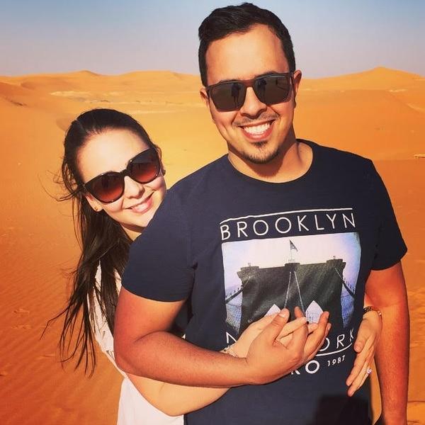 La costarricense Milena Chen-Apuy Murillo llegó hace cuatro años a Arabia Saudí. En la imagen con su esposo, Fawaz A. Alotaiby. Fotografía: Cortesía