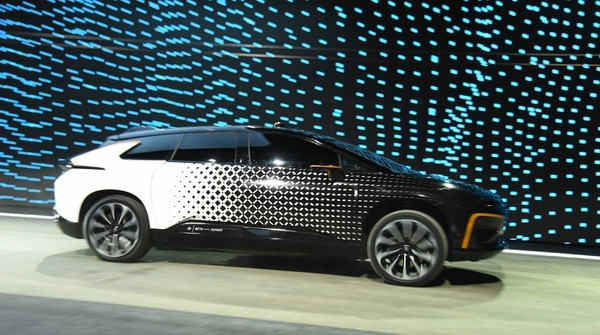 Este es el prototipo del carro electrónico de la empresa Faraday Future.
