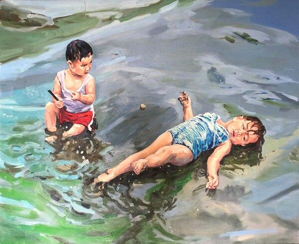 Narcisos (2012), óleo sobre lienzo de Adrián Arguedas Ruano. Foto: Cortesía Rafael Venegas/Museo de Arte Costarricense.