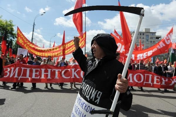 Más de 5.000 personas estaban reunidas este miércoles en la Plaza Kaluga de Moscú. | AFP.