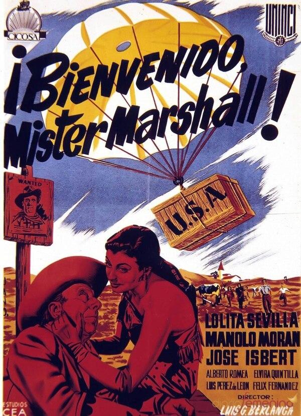 En 1953 se estrenó la película 'Bienvenido, Mister Marshall', bajo la dirección de Luis García Berlanga y con las actuaciones de José Isbert, Manolo Morán y Lolita Sevilla, entre otros. Foto: Cortesía de Preámbulo.