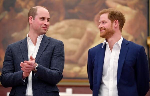 Guillermo, duque de Cambridge y su hermano el príncipe Enrique. Archivo