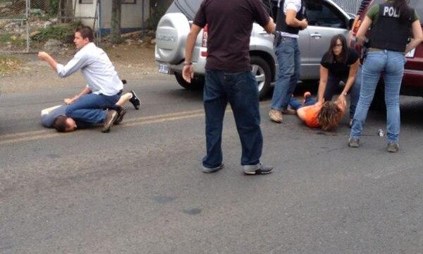 La mujer salvadoreña fue detenida ayer por el OIJ. | LA NACIÓN