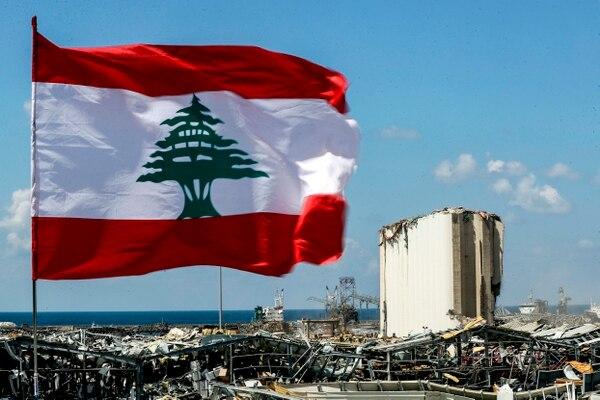 Silos para almacenar granos sufrieron serios daños como consecuencia de la gran explosión en Beirut. AFP