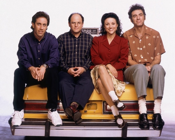 Jason Alexander, Julia Louis-Dreyfus, Jerry Seinfeld y Michael Richards, en una foto promocional de la última temporada. Foto: cortesía Columbia TriStar Television/ Courtesy: Everett Collection.