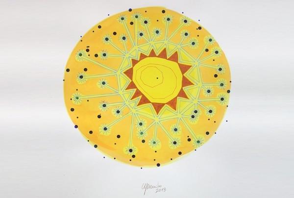 Luminoso. Las obras recuerdan la belleza solar. Eugenio Murillo para LN.