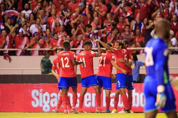 Joel Campbell, Johan Venegas, Marco Ureña, Celso Borges y Bryan Ruiz componen parte del andamiaje de Costa Rica en la eliminatoria a Rusia 2018.