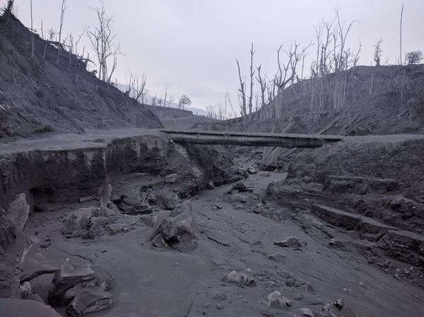 Así luce actualmente la cuenca de la quebrada Paredes.
