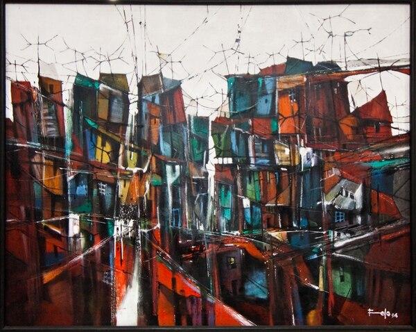 6. Después de la lluvia es una pintura al óleo de 1,5 x 1,2 m hecha en 1994.