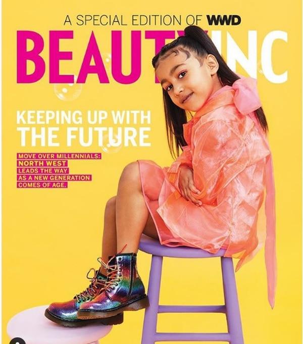North West encabeza la portada de la revista Women's Wears Daily.
