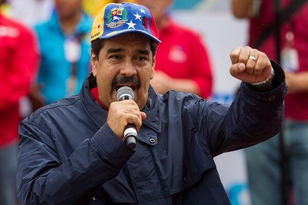 El presidente de Venezuela, Nicolás Maduro, participó en una manifestación este domingo 1°. de mayo, con motivo del Día Internacional de los Trabajadores en Caracas, Venezuela.